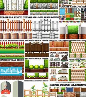 وکتور عناصر گرافیکی طراحی محیط های طبیعی