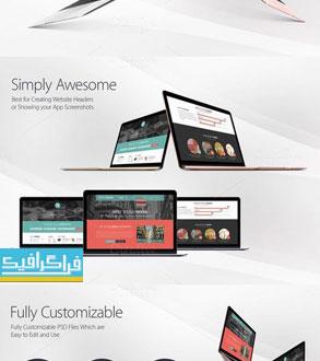 دانلود ماک آپ های فتوشاپ لپ تاپ مک بوک
