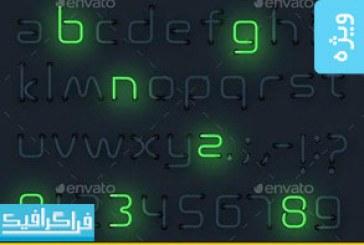 فایل لایه باز حروف انگلیسی نئون – شماره 2