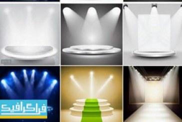 دانلود وکتور اتاق های نمایش با نور – شماره 3