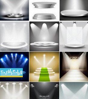 دانلود وکتور اتاق های نمایش با نور - شماره 3