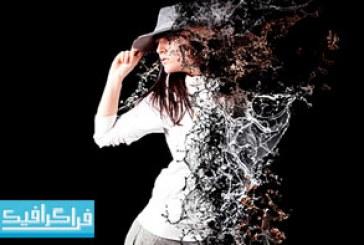 اکشن فتوشاپ افکت پخش شدن آب – Water Scatter