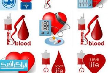 دانلود وکتور طرح های گرافیکی تزریق خون