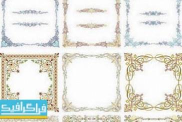 دانلود وکتور قاب های تزئینی – شماره 4