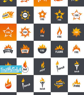 دانلود لوگو های وکتور آتش - Fire Logos