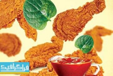 فایل لایه باز پوستر تبلیغاتی مرغ سوخاری