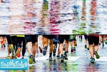 دانلود تصاویر استوک دونده های ماراتون