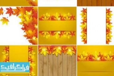 دانلود وکتور پس زمینه های فصل پاییز – شماره 5
