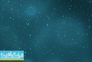 دانلود ویدئو فوتیج ذرات آبی انتزاعی