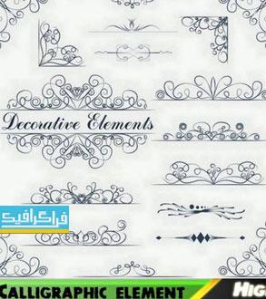وکتور طرح های تزئینی کالیگرافیک - شماره 16
