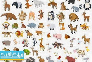 دانلود وکتور حیوانات کارتونی – مجموعه کامل
