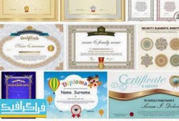وکتور طرح های گواهینامه و دیپلم مهارت – شماره 4