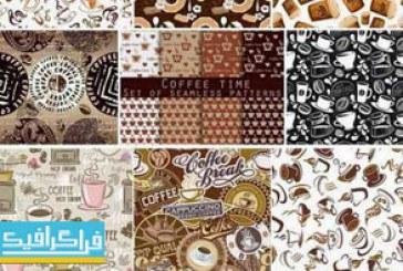 دانلود وکتور پترن های قهوه – مجموعه کامل