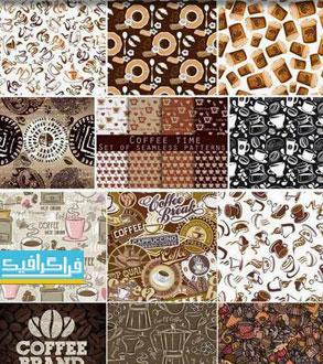 دانلود وکتور پترن های قهوه - مجموعه کامل