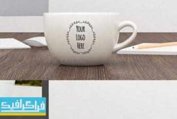 دانلود ماک آپ فتوشاپ فنجان-ماگ قهوه