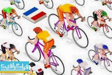 دانلود وکتور طرح های دوچرخه سوار