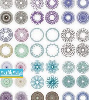 دانلود وکتور دایره های تزئینی - شماره 3