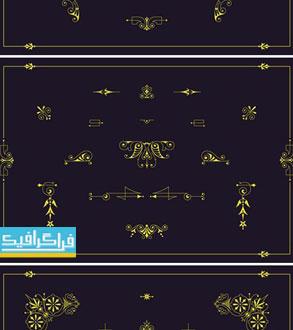 دانلود وکتور اشکال تزئینی - شماره 4