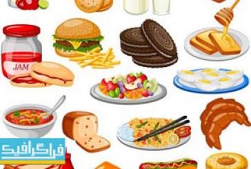 دانلود وکتور های مواد غذایی Food Vectors – شماره 2