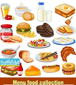 دانلود وکتور های مواد غذایی Food Vectors - شماره 2