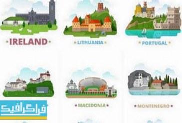 وکتور ساختمان ها و مناطق دیدنی – کشور های شرق اروپا
