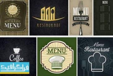 وکتور های منوی رستوران-فست فود-کافه – شماره 5