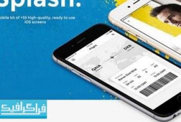 دانلود قالب Psd رابط کاربری برنامه موبایل Splash