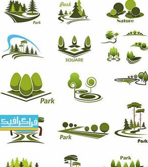 دانلود لوگو درخت های پارک و جنگل