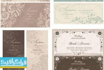 وکتور های کارت عروسی طرح کلاسیک – شماره 3