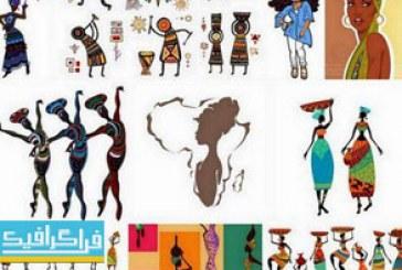 دانلود وکتور طرح های زنان آفریقایی