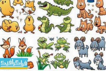 دانلود وکتور حیوانات کارتونی بامزه – شماره 2