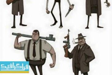 دانلود وکتور های مردم کارتونی – شماره 5