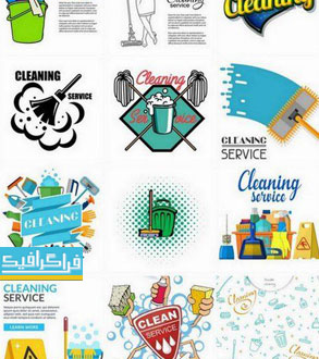 دانلود وکتور طرح های خدمات نظافت