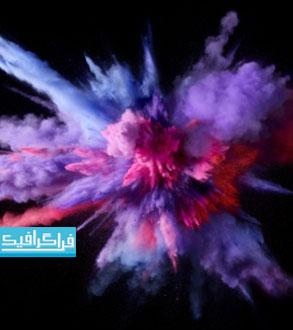 دانلود والپیپر انفجار رنگ ها