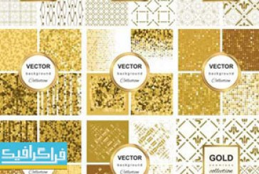 دانلود وکتور پترن های طلایی انتزاعی