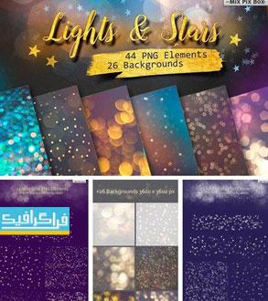 دانلود فایل لایه باز تصاویر نورانی و ستاره