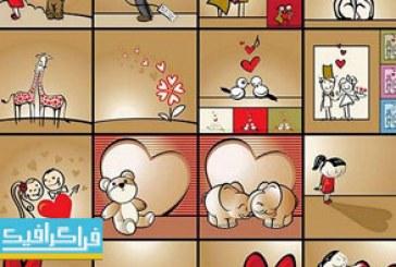 دانلود وکتور طرح های عاشقانه – کارتونی