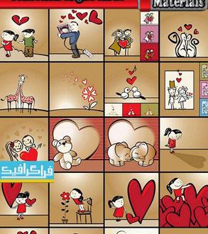 دانلود وکتور طرح های عاشقانه - کارتونی