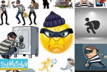 دانلود وکتور دزد و جنایتکار – طرح کارتونی