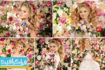 دانلود تصاویر استوک عروس با گل های رز