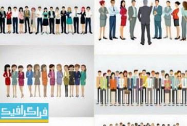 دانلود وکتور طرح های جمعیت افراد شاغل