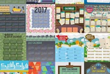 دانلود وکتور های تقویم دیواری – طرح کودکان