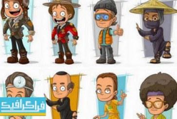 دانلود وکتور های مردم کارتونی – شماره 6