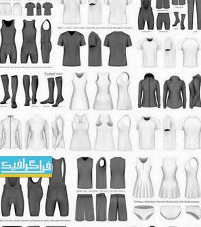 دانلود وکتور های لباس مختلف مردانه و زنانه - شماره 2