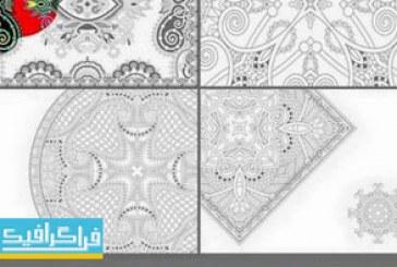 دانلود وکتور طرح های اسلیمی کتاب رنگ