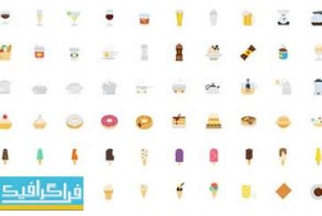 دانلود آیکون های مواد غذایی طرح فلت – شماره 2