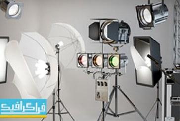 دانلود مدل سه بعدی وسایل حرفه ای آتلیه عکاسی