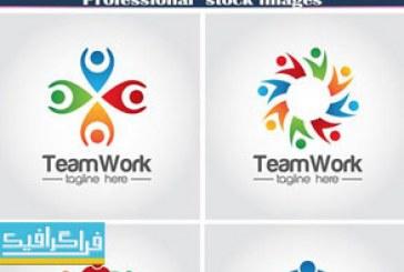 دانلود لوگو های کار تیمی – انتزاعی