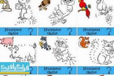 دانلود وکتور های بازی رسم نقاط اعداد – حیوانات