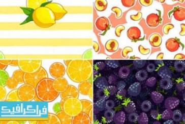 دانلود وکتور پترن های میوه – Fruit Patterns